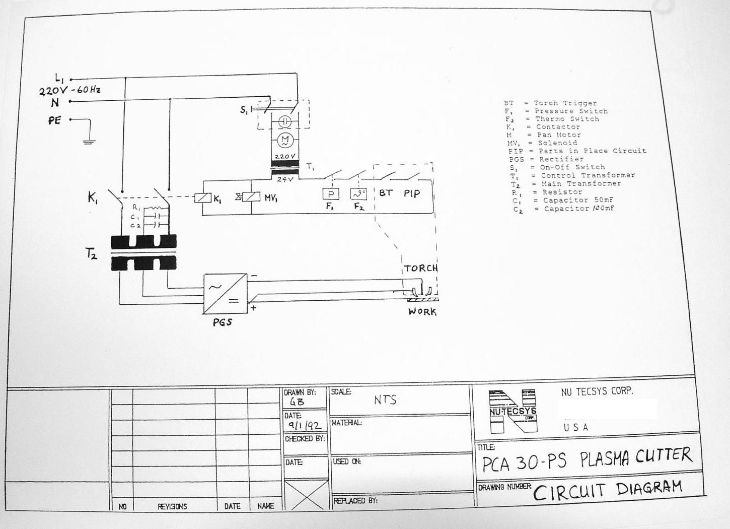Plasma Cutter Diagram 2 Custom Wiring Cnc Schematic Fan Rh Banyan Palace Com